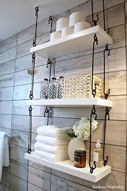 Hanging Bathroom Shelves 43 The Toilet Storage Ideas For Space Toilet Storage