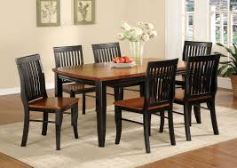 two tone dining table set dining table group with chairs classic two tone wood dining awesome