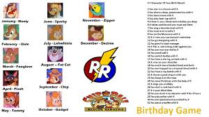 chip n dale rescue rangers chip and dale rescue rangers birthday game birthday scenario
