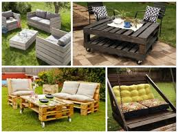 Furniture For Patio Recycled Wooden Pallets Furniture For Patio Decor Recycled Things