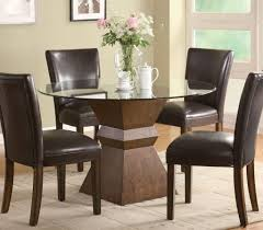 dining tables round dinner tables with chairs glass table top