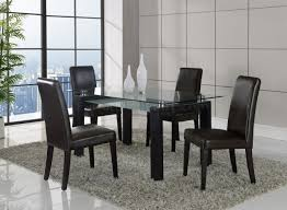 global furniture dining room sets d646dt dining set 5pc in black by global w dg020dc brown chairs