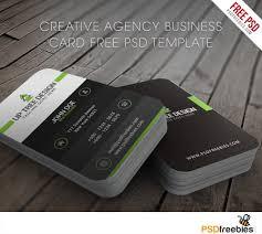 creative agency business card free psd template card templates
