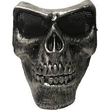 Skeleton Mask Full Face Silver Airsoft Skull Mask Opsgear
