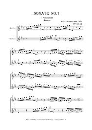 6 sonatas twv 40 101 106 telemann georg philipp imslp