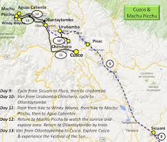 Machu Picchu Map Peru And Galapagos Itinerary And Maps Travel Tales Of Life