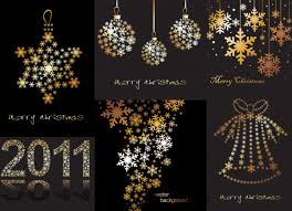 snowflake christmas decorations consisting of vector download free