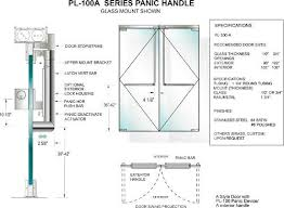 tempered glass door hardware glass panic door handle pl100a configuration and specifications