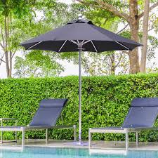 Aluminum Patio Umbrella by Galtech Sr Series 7 1 2 Ft Aluminum Patio Umbrella With Manual
