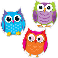 cut outs colorful owl cut outs