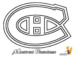 montreal canadiens nhl coloring click for big image to print save