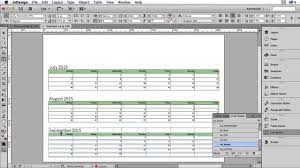 how to create a calender or wall planner in adobe indesign youtube