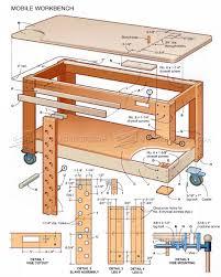 mobile workbench plans u2022 woodarchivist