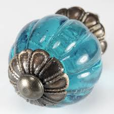 ocean blue glass cabinet knobs kitchen drawer pulls u0026 handle set