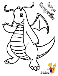 pokemon coloring pages dragonite 9 olegandreev me
