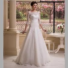 3 4 sleeve a line wedding dress wedding dresses dressesss