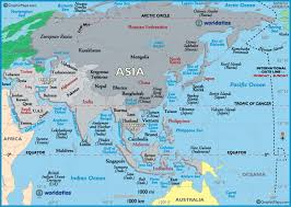map asie asie map major tourist attractions maps