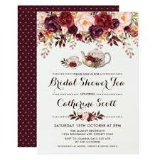 bridal shower tea party invitations floral tea party bridal shower invitation zazzle