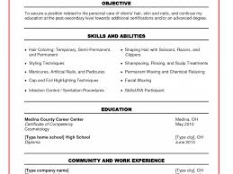 Cosmetology Resume Objective Statement Example Resume Cosmetologist Example Virtren Com