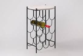 wine rack side table quilles white marble side table wine rack absolute home