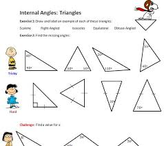 internal angles of triangles solve my maths