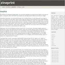 Zine Template by Zine Print Template Free Website Templates In Css Html Js Format