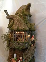 Miniature Gardening Com Cottages C 2 Miniature Gardening Com Cottages C 2 Miniature Gnome House Made Out Of Paper Clay Ceramics