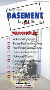 keep your basement dry all the time checklist