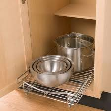 lynk chrome pull out cabinet drawers elegant slide out organizers kitchen cabinets gl kitchen design