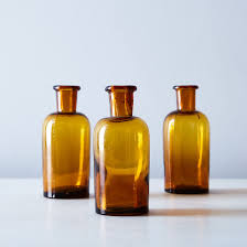 vintage french small amber apothecary jars on food52