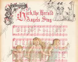 hark the herald angels sing christmas carol holiday sheet