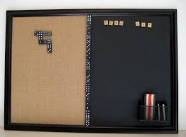 kitchen bulletin board ideas bulletin board magnetic chalkboard framed organizer and message