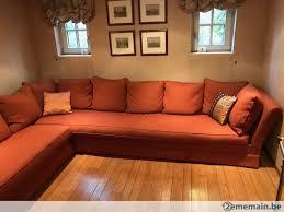 canape d angle en tissus canapé d angle tissu orange de grande qualité a vendre