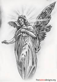 angle cloud design tattoos wings guardian