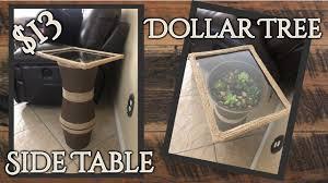 terrarium table diy dollar tree side table terrarium youtube