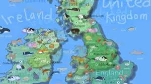Map Of England And Ireland by Kids Map Of The Uk U0026 Ireland Youtube