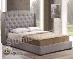 cole midnight blue fabric bed frame with sound system and regard