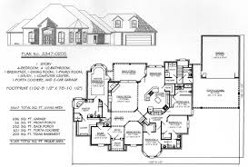 how many square feet is a 1 car garage 4 bedroom 1 story 2901 3600 square feet