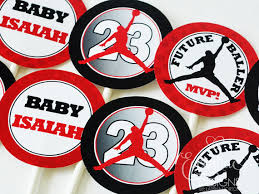 michael cake toppers air jumpman cupcake toppers 7 75 cupcake toppers picks
