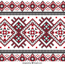 knitting pattern in geometric style vector free