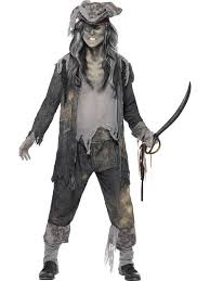 Ghost Dog Halloween Costumes Mens Ghost Pirate Ship Ghoul Fancy Dress Costume Dead Sea Dog