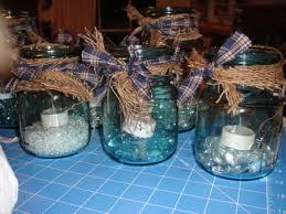 jar centerpieces for weddings s kraft korner blue jar centerpieces