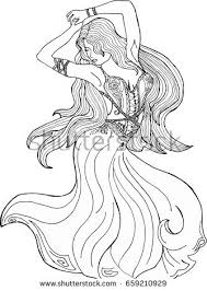 cool coloring pages adults female coloring pages coloring pages adults girl dress dancing stock