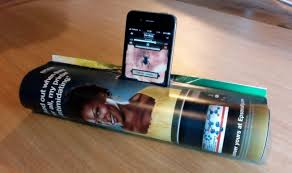 Homemade Phone Stand by Boost Up Your Smartphone Tunes With One Of These Macgyver Style