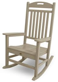 Furniture Charming White Rustic Wooden Rocking Chair For Outside - Wooden rocking chair designs