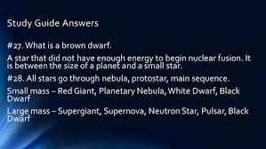 study guide answers stars and galaxies subtitle study guide