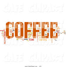 espresso coffee clipart clip art of a coffee word set by macx 433