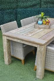 corona dining table 240 x 100cm grey new teak osmen outdoor