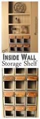 Shelves Built Into Wall Remodelando La Casa Diy Between The Studs Shelf Closet