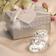 christening favors baby shower favors baby shoe with metal circle for